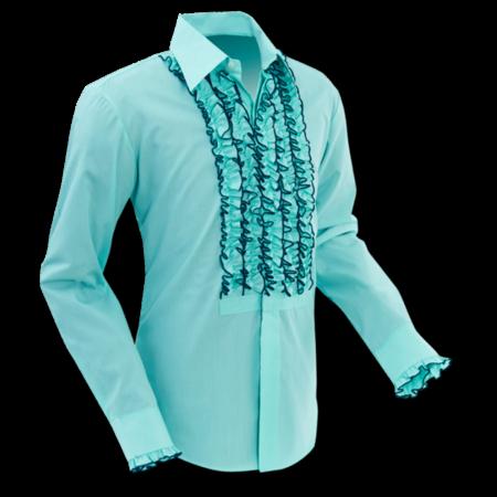 Pete Chenaski Chenaski Ruche Shirt Mint-Dark Green