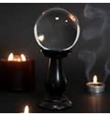 Small Clear Crystal Ball on Stand