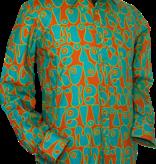 Pete Chenaski Chenaski Ltd Mens Shirt Moloko ORANGE BLUE