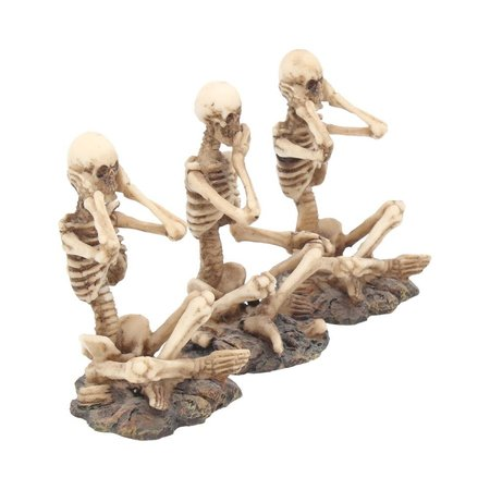Se No, Hear No, Speak No Skeletons Set of 3