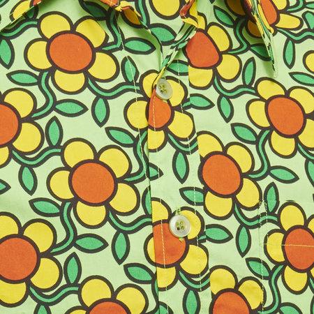 Pete Chenaski Chenaski Flowergrid Shirt Green
