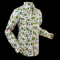 Chenaski Mens Shirt Dots & Spots