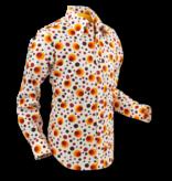 Pete Chenaski Chenaski Mens Shirt Dots & Spots Orange Large