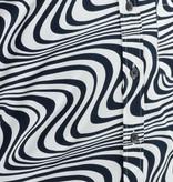 Pete Chenaski Chenaski Mens Shirt Wavy Line Creme & Black