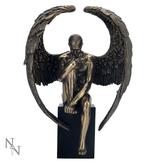 NEMESIS Angels Reflection Bronze  26cm - Large Male Angel on Cube