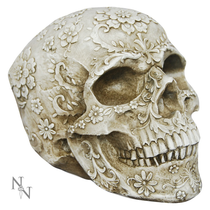 Floral Decay Skull 20cm