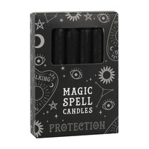 BLACK MAGIC SPELL CANDLES PROTECTION X 12