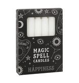 WHITE MAGIC SPELL CANDLES HAPPINESS X12