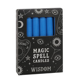 SPELL CANDLES WISDOM PACK OF 12 BLUE