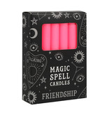 PINK SPELL CANDLES FRIENDSHIP PACK OF 12