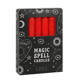 RED MAGIC SPELL CANDLES  LOVE X 12