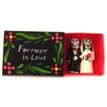 FOREVER IN LOVE MATCHBOX BRIDE AND GROOM