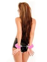 Love cuffs pink plush