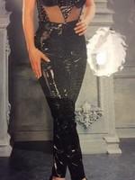 Latente Lak/ Vinyl trousers black