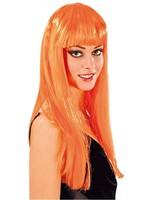 Wig cabaret long orange OneSize