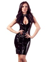 Black Level Lak/ Vinyl dress with lacing black