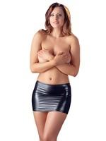Cotteli Collection Miniskirt wetlook black