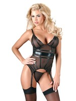 Cotteli Collection Cami suspender with string black