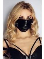 Noir Handmade Face mask studs black