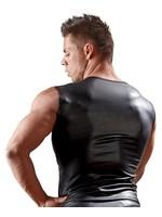 Svenjoyment Mens shirt neopreenlook with lace black