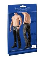 Svenjoyment Mens pants long wetlook black