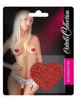 Nipple sticker hearts red 2 pcs.