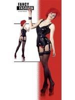Latex corset black