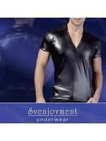 Svenjoyment Shirt wetlook black