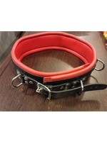 H.G. Leathers Bondage taille gordel and slots black/red