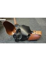 H.G. Leathers Dog hood black/brown