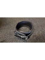 H.G. Leathers Collar bondage 3 Rings black