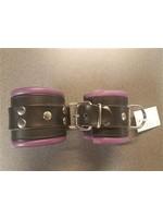 H.G. Leathers Bondage wrist  cuffs black/purple