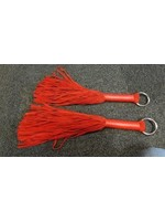 H.G. Leathers Leather flogger O-ring red