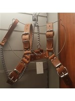 H.G. Leathers Dog harness leather brown