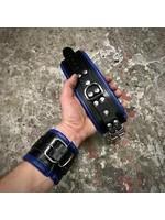H.G. Leathers Bondage wrist  cuffs black/blue