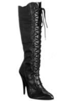 H.G. Leathers Knielaars met veter echt leder zwart