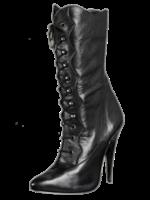 H.G. Leathers Kuitlaars met veter zwart