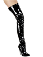H.G. Leathers Dijlaars 8 cm zwart glimmend
