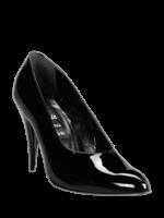 H.G. Leathers Pump 8 cm hak zwart glimmend
