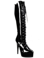 H.G. Leathers Laars plateau met veter zwart