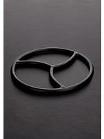 Black triskelion shibari suspension ring