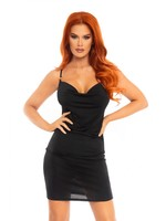 Leg Avenue Dress slinky cowl black