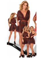 Ledapol Printed datex dress personalisation black/red