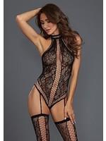 Dreamgirl Lace teddy bodystocking black OneSize