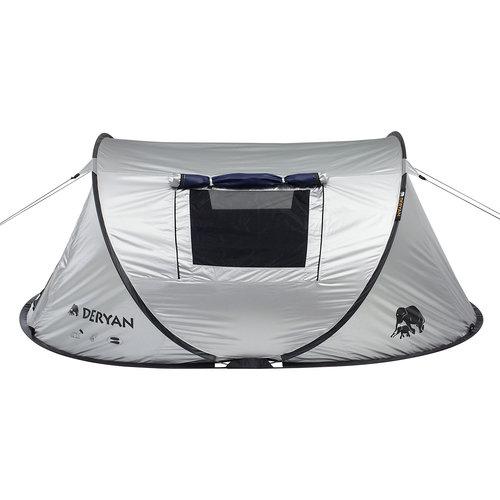 DERYAN DERYAN Dome - Pop Up tent - 2 persoons - Zilver - Anti-UV FPS 50+ - 2 seconds