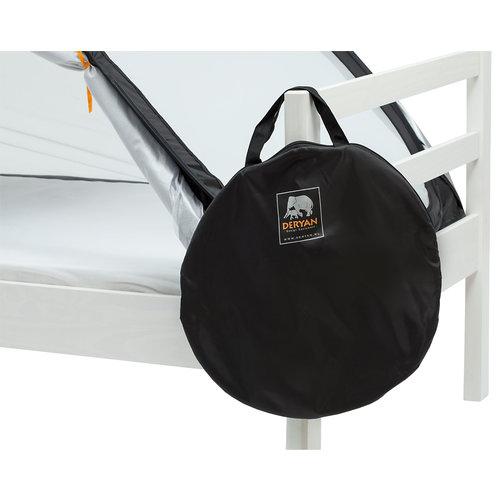 DERYAN DERYAN Luxe Bedtent Pop-Up zwart - Klamboe 1 persoons - 1mm gaas - verduisterend