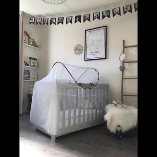 DERYAN DERYAN Luxe Klamboe voor Campingbed - mosquito protector