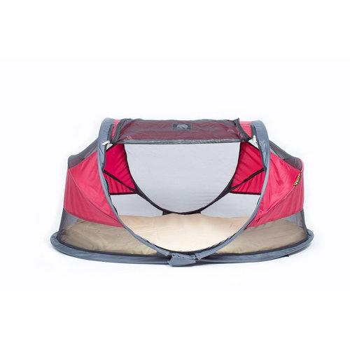DERYAN DERYAN Baby Campingbedje Wine + (Gratis) 3D-Welcool Matras (SPECIAL DEAL) Baby tent - speel tent