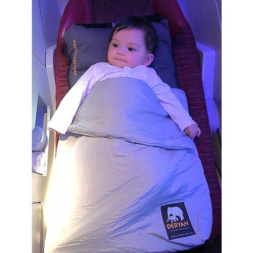 DERYAN DERYAN Air-Traveller Vliegtuigbedje - Reiskussen met matras