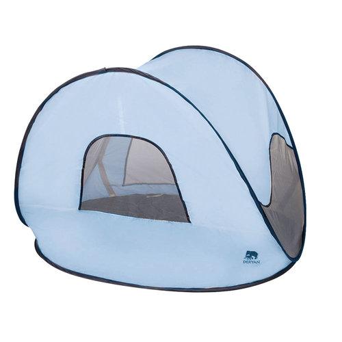 DERYAN Deryan Luxe Pop Up Strandtent - Anti-UV 50+ - Sky Blue